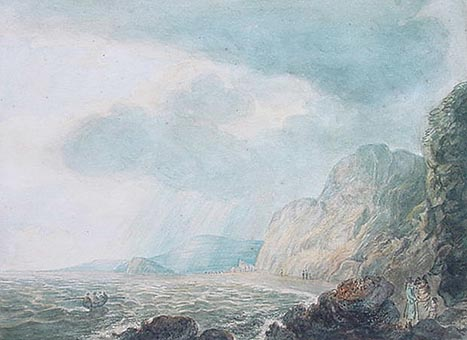 Antique Watercolour by William Payne - Teignmouth 1791