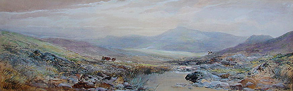 William Widgery - Dartmoor River posssibly Tavy Cleave