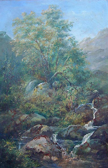 William Widgery Moorland Waterfall