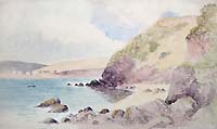 Wonwell Beach Devon watercolour for sale