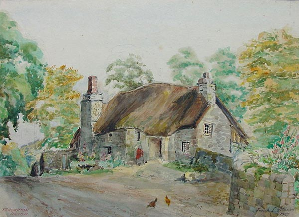 Mother Hubbard's Cottage - Yealmpton by Frank J. Jolness